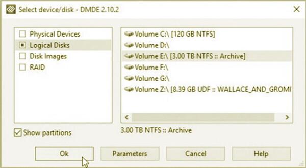 recuperar archivos con DMDE Free Edition 1