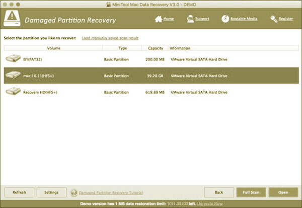 Mini Tool MAC Data Recovery 2