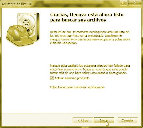 recuperar archivos con Recuva 3